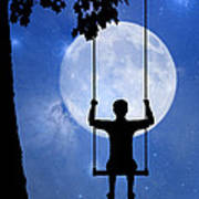 Childhood Dreams 2 The Swing Poster by John Edwards
