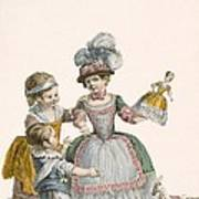 Children At Play, Engraved By Patas Poster