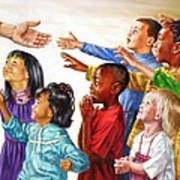 Children Coming To Jesus Poster