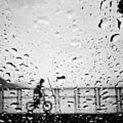 Children In Rain Poster
