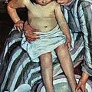 Child's Bath Poster by Mary Cassatt