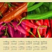 Chili Pepper 2014 Calendar Poster