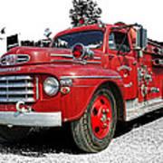 Chilliwack Fire- Mercury Firetruck Poster