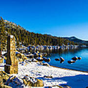 Chimney Beach - Lake Tahoe Poster