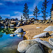 Chimney Beach Lake Tahoe Poster by Scott McGuire
