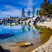 Chimney Beach Lake Tahoe Shoreline Poster by Scott McGuire