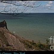Chimney Bluffs Lake Ontario New York Poster