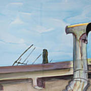 Chimney Pipe And Berkeley Sky Poster