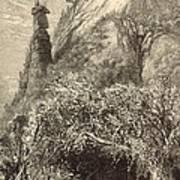 Chimney Rock At Hickory-nut Gap 1872 Engraving Poster
