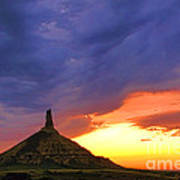 Chimney Rock Nebraska Poster