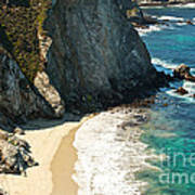 China Cove At Point Lobos State Beach Poster