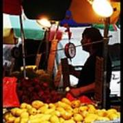 Chinatown Fruit Vendor Poster