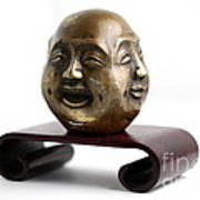 Chinese Four Faced Figure Poster