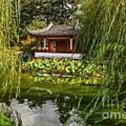 Chinese Garden Breeze Poster