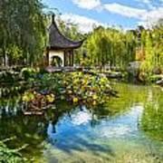 Chinese Garden Lake Poster