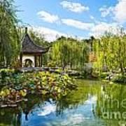 Chinese Garden Vista Poster