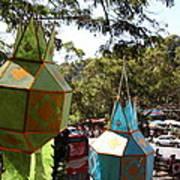 Chinese Lanterns - Wat Phrathat Doi Suthep - Chiang Mai Thailand - 01135 Poster