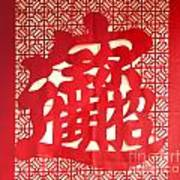 Chinese Ornamental Character Poster
