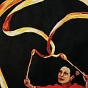 Chinese Ribbon Dancer Yellow Ribbon Poster