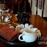 Chinese Tea Pot Cups Towel Tray And Plates Poster