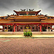 Chinese Temple Paved Square Poster