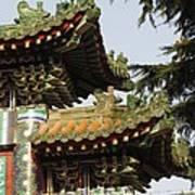 Chinese Temple Roofs Poster