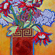 Chinese Vase Poster by Diane Fine