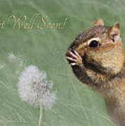 Chippy Get Well Soon Poster