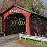 Chiselville Covered Bridge Poster by Edward Fielding