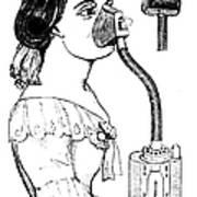 Chloroform Inhaler, 1858 Poster