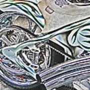 Chopper Belt Drive Detail Poster by Samuel Sheats