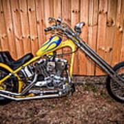Chopper Custom Built Harley Poster