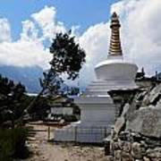 Chorten And Tree Poster
