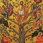 Christ And The Apostles Poster