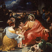 Christ Blessing The Little Children Poster