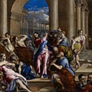 Christ Driving The Money Changers From The Temple Poster by El Greco