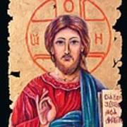 Christ Icon Fresco Poster