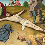 Christ Nailed To The Cross Poster