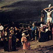 Christ On The Cross Poster by Mihaly Munkacsy