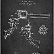 Christ Revolver Patent Drawing From 1866 - Dark Poster