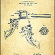 Christ Revolver Patent Drawing From 1866 - Vintage Poster