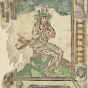 Christ Sitting On The Cross, Anonymous Poster