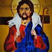 Christ With A Lamb Poster