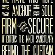 Christian Scriptural Bible Verse - Hebrews Poster
