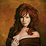 Christina Hendricks Painting Poster