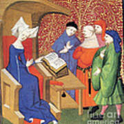 Christine De Pizan Lecturing To Men Poster