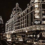 Christmas At Harrods Department Store - London Poster