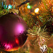 Christmas Ball Ornament Purple 1 Poster