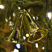 Christmas Bells Ornaments Faneuil Hall Tree Boston Poster
