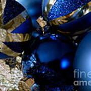 Christmas Blue Poster